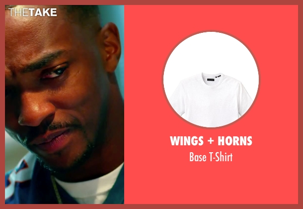 Wings + Horns white t-shirt from Pain & Gain seen with Anthony Mackie (Adrian Doorbal)