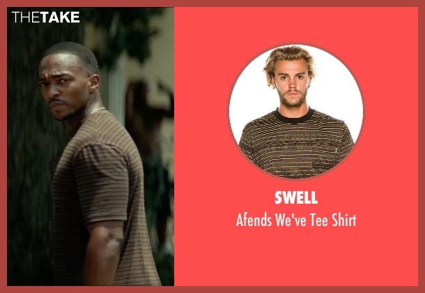 Swell brown shirt from Triple 9 seen with Anthony Mackie (Unknown Character)