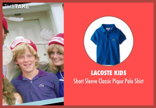 Lacoste Kids purple shirt from Vacation seen with Anthony Michael Hall (Rusty Griswold)