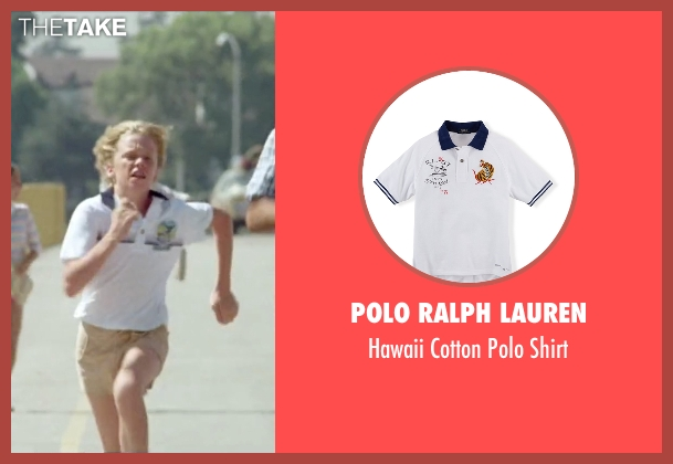 Polo Ralph Lauren white shirt from Vacation seen with Anthony Michael Hall (Rusty Griswold)