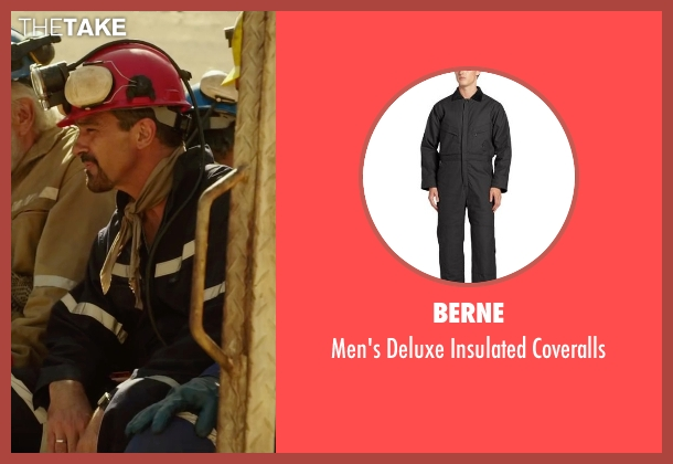 Berne black coveralls from The 33 seen with Antonio Banderas (Mario Sepúlveda)