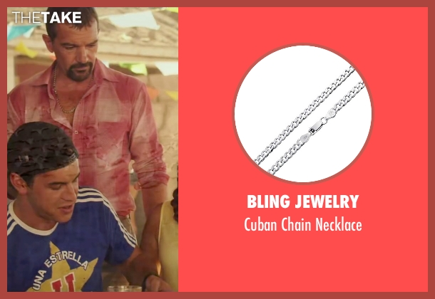 Bling Jewelry silver necklace from The 33 seen with Antonio Banderas (Mario Sepúlveda)