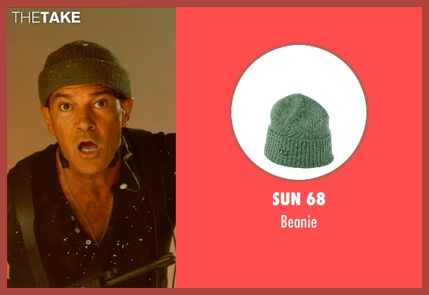 Sun 68 green beanie from The Expendables 3 seen with Antonio Banderas (Galgo)