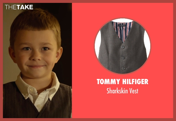 Tommy Hilfiger gray vest from Before I Wake seen with Antonio Evan Romero (Sean)
