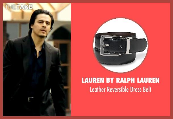 Lauren by Ralph Lauren black belt from Savages seen with Antonio Jaramillo (Jaime)