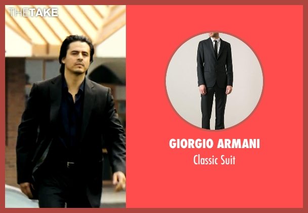 Giorgio Armani black suit from Savages seen with Antonio Jaramillo (Jaime)