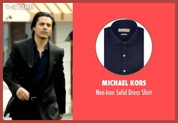 Michael Kors blue shirt from Savages seen with Antonio Jaramillo (Jaime)