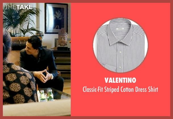 Valentino gray shirt from Savages seen with Antonio Jaramillo (Jaime)
