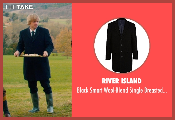 River Island black coat from Mortdecai seen with Antti Hakala (Servant)