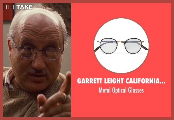 Garrett Leight California Optical black glasses from Silver Linings Playbook seen with Anupam Kher (Dr. Cliff Patel)