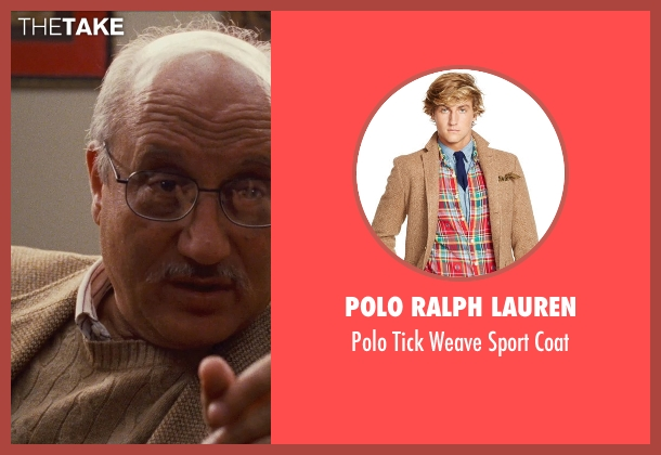 Polo Ralph Lauren brown coat from Silver Linings Playbook seen with Anupam Kher (Dr. Cliff Patel)