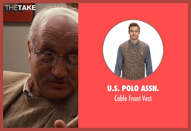 U.S. Polo Assn. brown vest from Silver Linings Playbook seen with Anupam Kher (Dr. Cliff Patel)