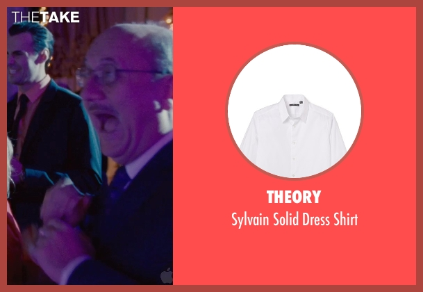 Theory white shirt from Silver Linings Playbook seen with Anupam Kher (Dr. Cliff Patel)