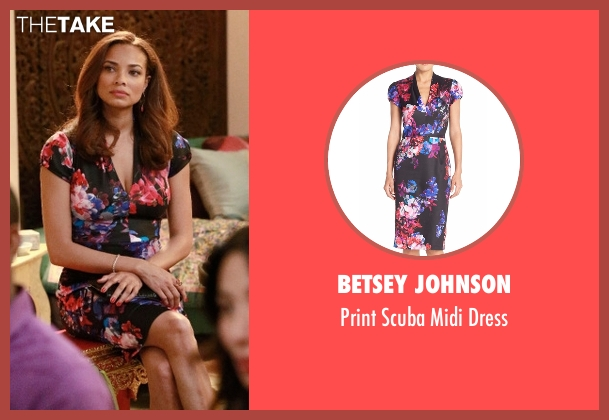 Betsey Johnson black dress from Mistresses seen with April Malloy (Rochelle Aytes)
