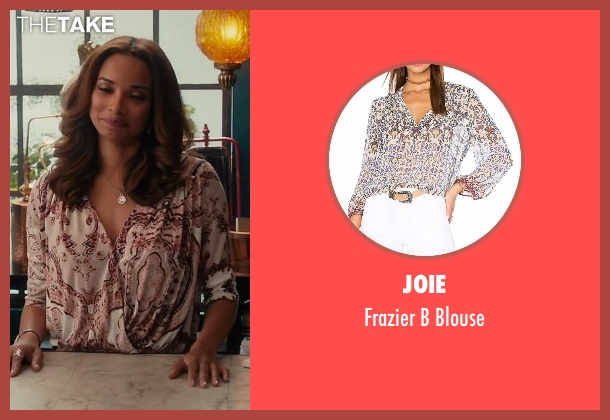 Joie blouse from Mistresses seen with April Malloy (Rochelle Aytes)