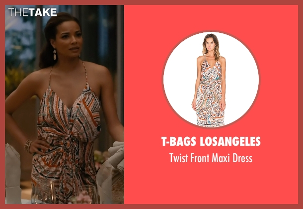 T-Bags Losangeles blue dress from Mistresses seen with April Malloy (Rochelle Aytes)