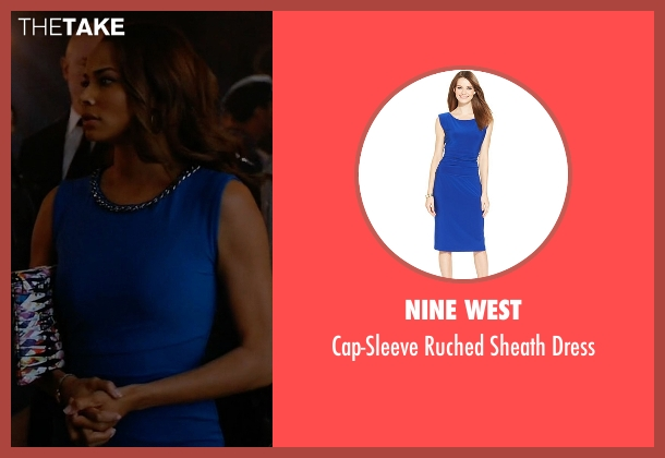 Nine West blue dress from Mistresses seen with April Malloy (Rochelle Aytes)