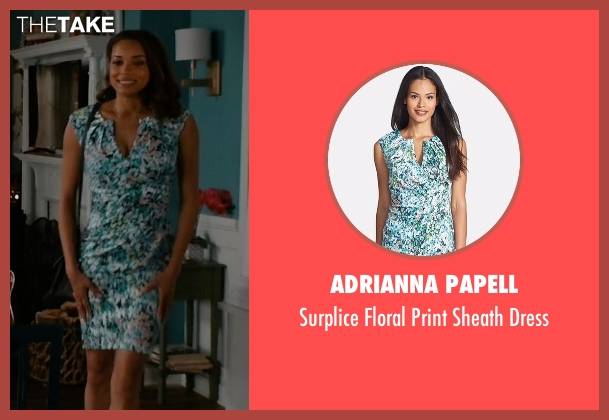Adrianna Papell blue dress from Mistresses seen with April Malloy (Rochelle Aytes)
