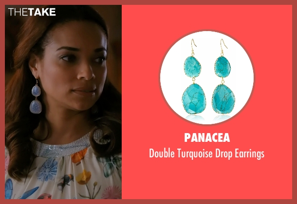 Panacea blue earrings from Mistresses seen with April Malloy (Rochelle Aytes)
