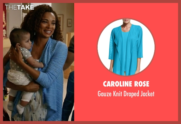 Caroline Rose blue jacket from Mistresses seen with April Malloy (Rochelle Aytes)
