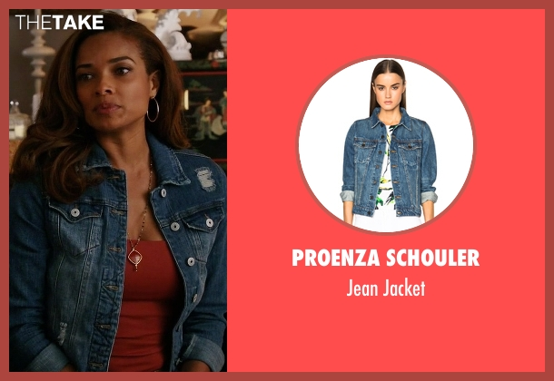 Proenza Schouler blue jacket from Mistresses seen with April Malloy (Rochelle Aytes)