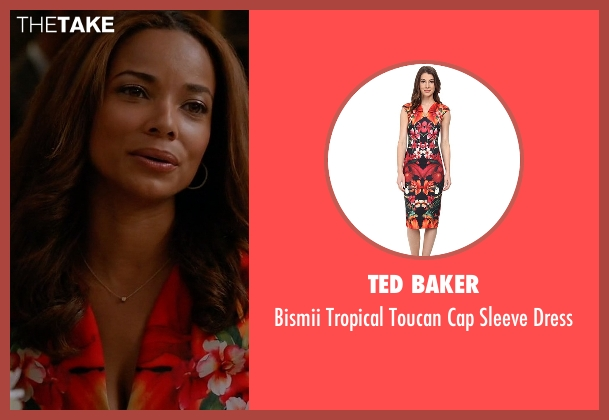 Ted Baker dress from Mistresses seen with April Malloy (Rochelle Aytes)