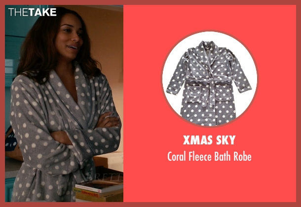 Xmas Sky gray robe from Mistresses seen with April Malloy (Rochelle Aytes)