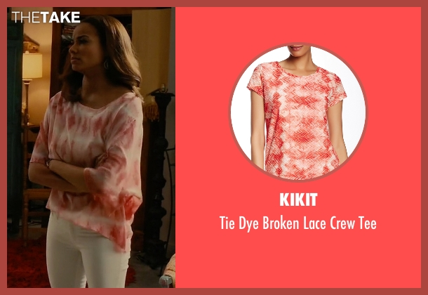 Kikit orange tee from Mistresses seen with April Malloy (Rochelle Aytes)