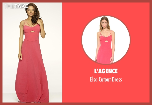 L'Agence pink dress from Mistresses seen with April Malloy (Rochelle Aytes)