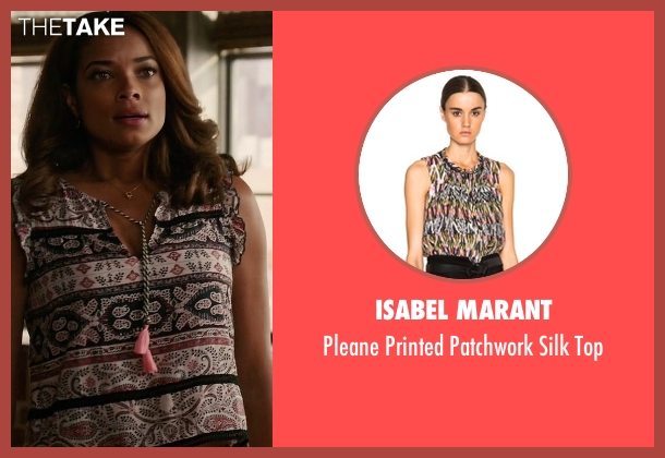 Isabel Marant pink top from Mistresses seen with April Malloy (Rochelle Aytes)