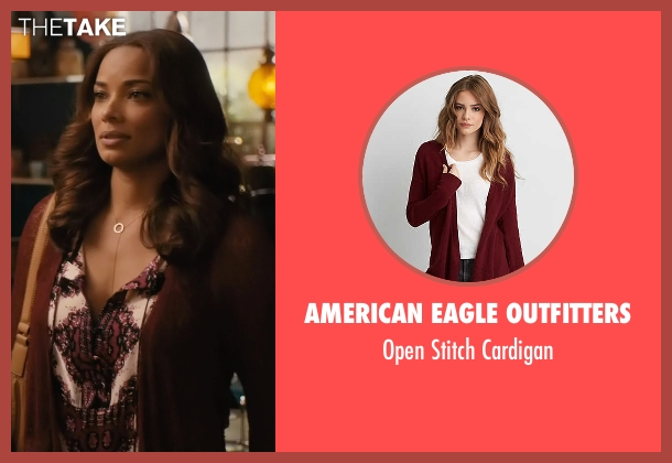 American Eagle Outfitters red cardigan from Mistresses seen with April Malloy (Rochelle Aytes)