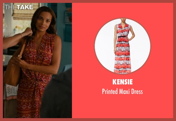 Kensie red dress from Mistresses seen with April Malloy (Rochelle Aytes)