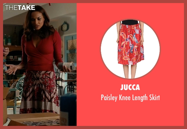 Jucca red skirt from Mistresses seen with April Malloy (Rochelle Aytes)