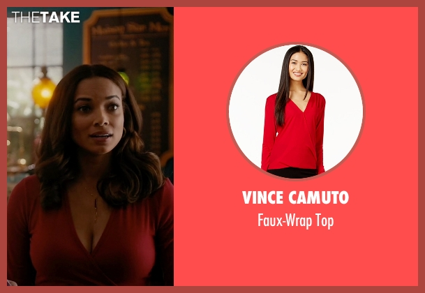 Vince Camuto red top from Mistresses seen with April Malloy (Rochelle Aytes)