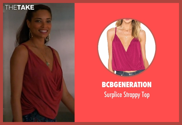 BCBGeneration red top from Mistresses seen with April Malloy (Rochelle Aytes)