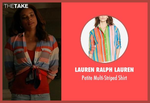 Lauren Ralph Lauren shirt from Mistresses seen with April Malloy (Rochelle Aytes)