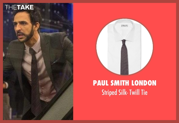 Paul Smith London black tie from The Blacklist seen with Aram Mojtabai (Amir Arison)