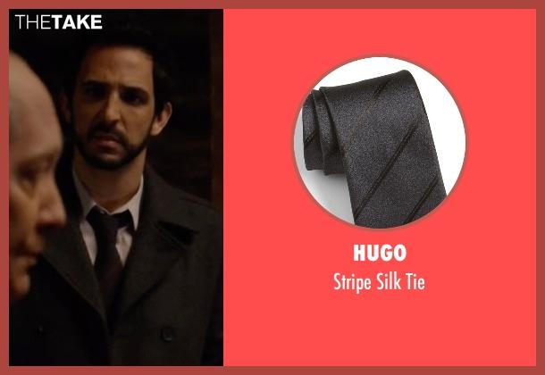 Hugo  black tie from The Blacklist seen with Aram Mojtabai (Amir Arison)