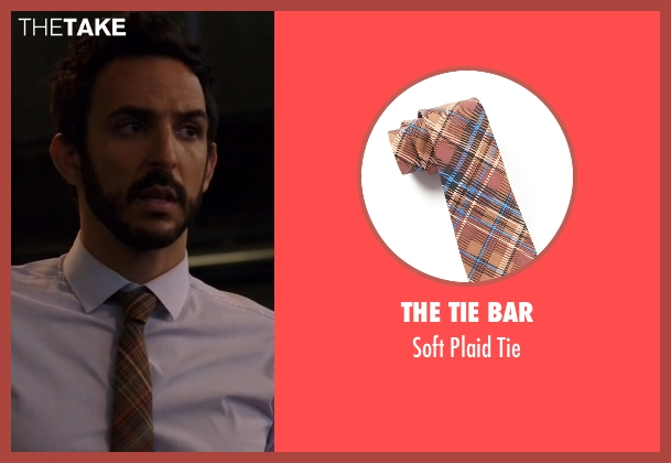 The Tie Bar brown tie from The Blacklist seen with Aram Mojtabai (Amir Arison)