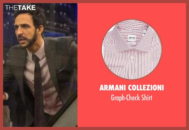 Armani Collezioni pink shirt from The Blacklist seen with Aram Mojtabai (Amir Arison)