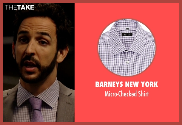 Barneys New York purple shirt from The Blacklist seen with Aram Mojtabai (Amir Arison)