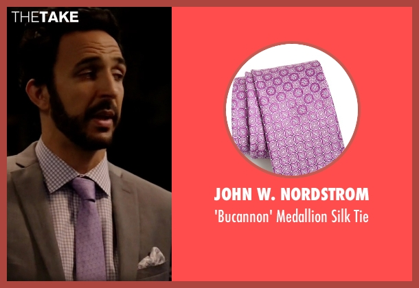 John W. Nordstrom purple tie from The Blacklist seen with Aram Mojtabai (Amir Arison)