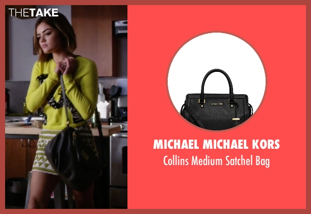 Michael Michael Kors black bag from Pretty Little Liars seen with Aria Montgomery (Lucy Hale)