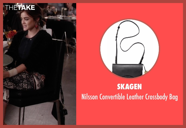 Skagen  black bag from Pretty Little Liars seen with Aria Montgomery (Lucy Hale)