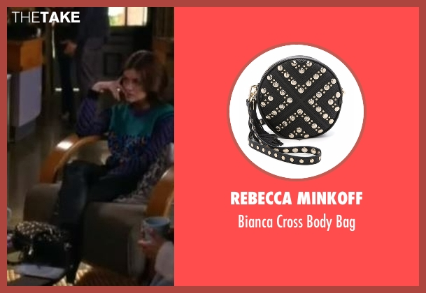 Rebecca Minkoff black bag from Pretty Little Liars seen with Aria Montgomery (Lucy Hale)