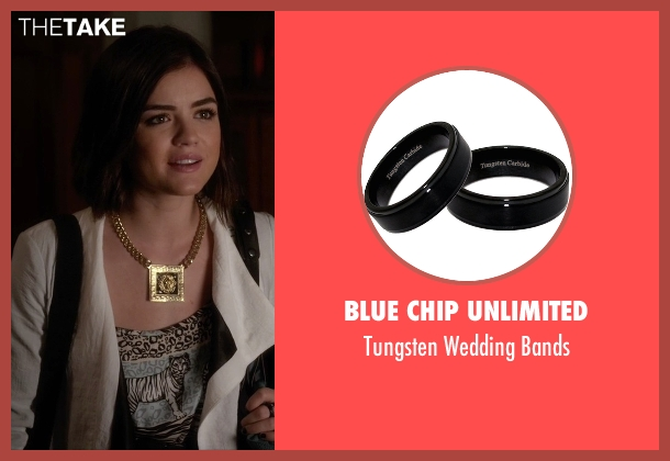 Blue Chip Unlimited black bands from Pretty Little Liars seen with Aria Montgomery (Lucy Hale)