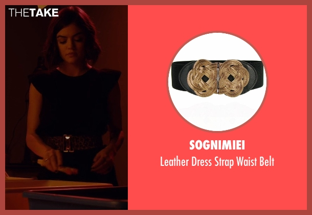 Sognimiei black belt from Pretty Little Liars seen with Aria Montgomery (Lucy Hale)