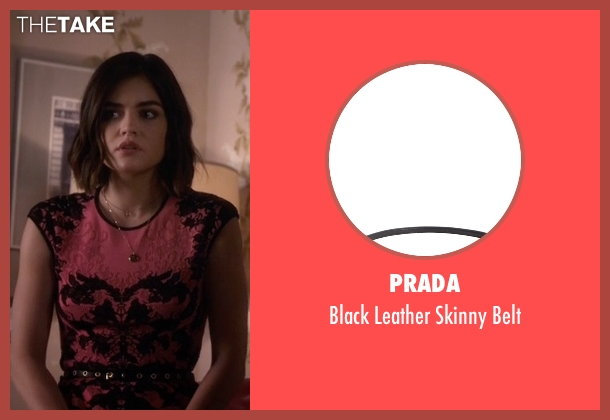 Prada black belt from Pretty Little Liars seen with Aria Montgomery (Lucy Hale)