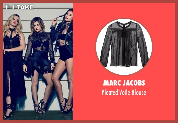 Marc Jacobs black blouse from Pretty Little Liars seen with Aria Montgomery (Lucy Hale)
