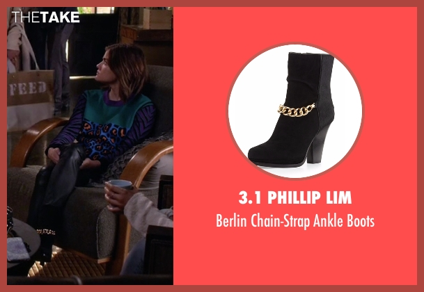3.1 Phillip Lim black boots from Pretty Little Liars seen with Aria Montgomery (Lucy Hale)